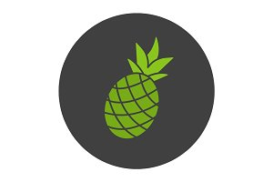Pineapple glyph color icon