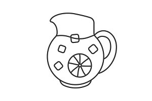 Lemonade jug linear icon