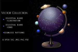Astronomical vector collection.