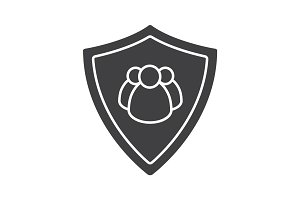 Users security glyph icon