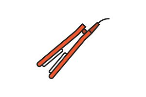 Hair straightener color icon
