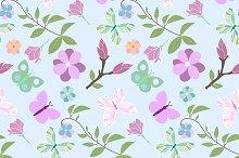 Seamless pattern spring