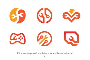 6 Best of Services Logo Bundle
