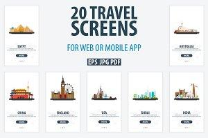 Travel UI/UX Screens