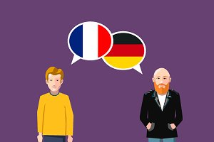 France and Germany speech bubbles