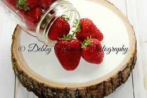 Strawberries amd Mason Jar