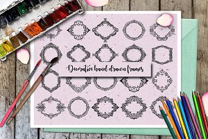 Decorative hand drawn frames.