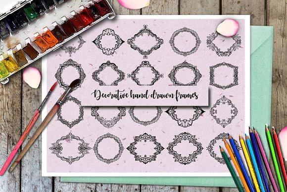 Decorative Hand Drawn Frames