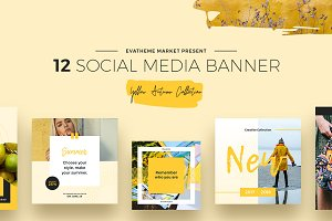 Yellow Autumn Social Media Designs