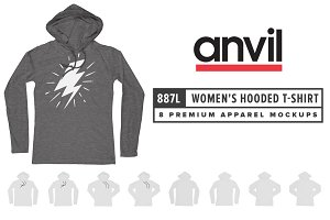 Anvil 887L Women's LS Hooded T-Shirt