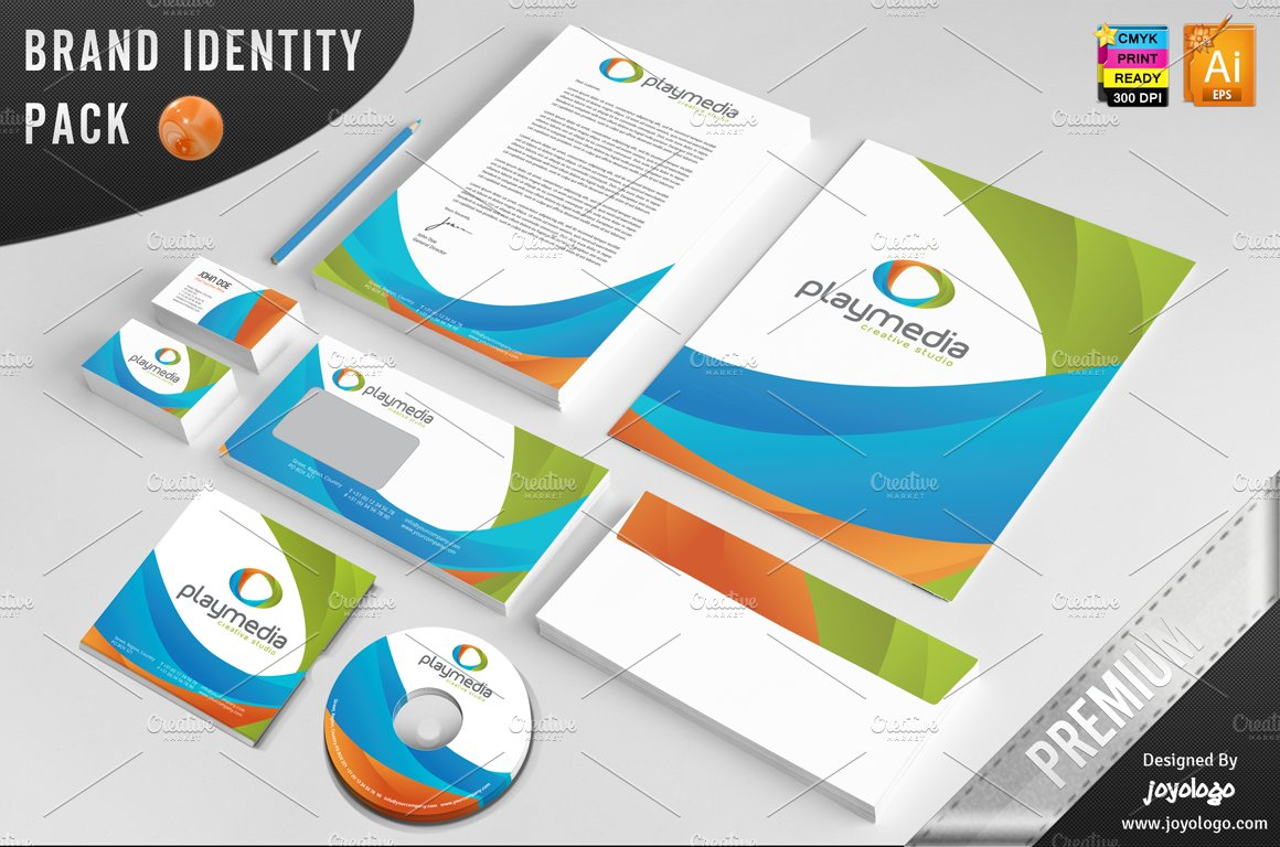 3d play media corporate identity stationery templates creative 3d play media corporate identity stationery templates creative market maxwellsz
