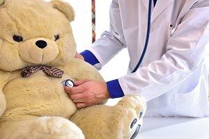 Pediatrician doctor concept detail