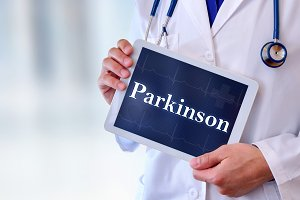 Doctor tablet parkinson message