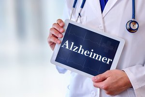 Doctor tablet alzheimer message