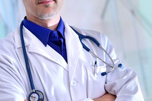 General doctor half body vertical