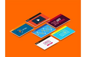 Isometric user interface design