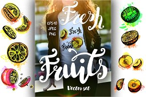 Fresh Fruits set