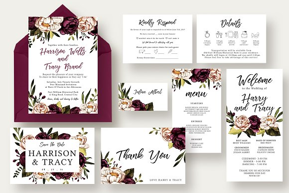 Bold Stylish Floral Wedding Suite