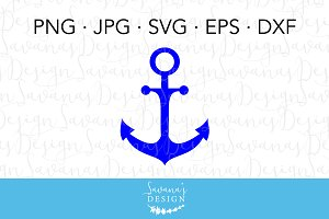 Nautical Anchor SVG Cut File