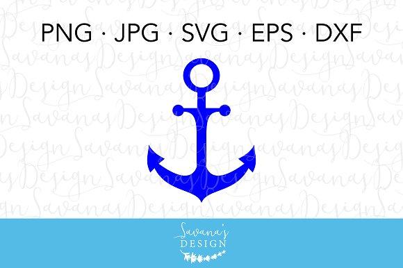 Nautical Anchor SVG Cut File