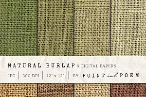 Burlap Textured Digital Paper