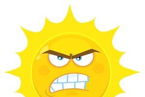 Angry Yellow Sun Character
