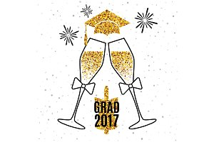 Grad 2017 greeting card