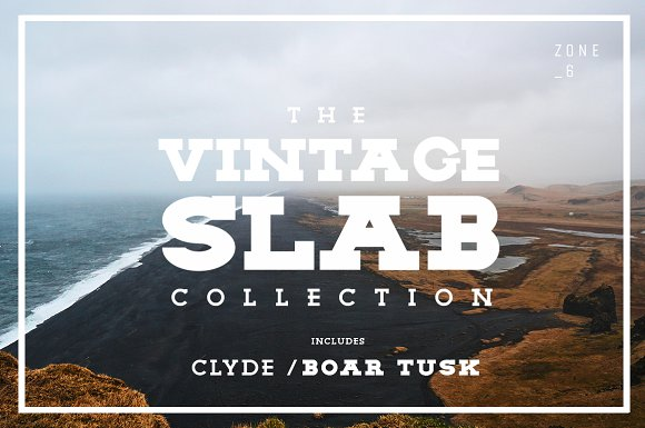 The Vintage Slab Font Collection