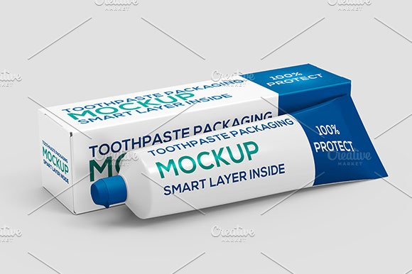 Download Toothpaste Packaging Mock-up