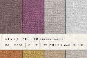 Burlap Digital Paper Set