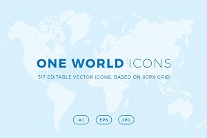 ONE WORLD ICONS - Countries