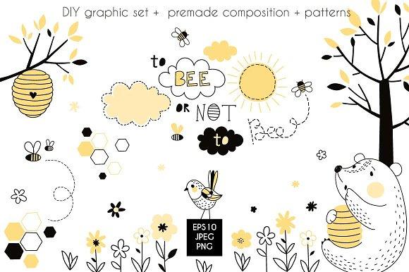 Honey Bear Graphic Set