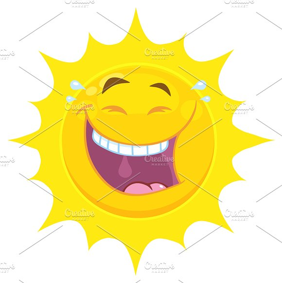 Yellow Sun With Smiling Expression