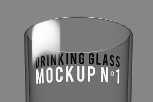 Drinking Glass Mockup N°1