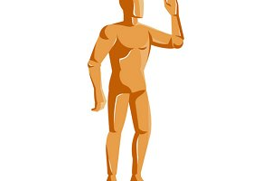 mannequin human anatomy standing ret