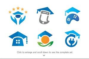 6 Education Logos