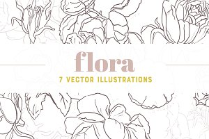 FLORA | 7 Vector Illustrations