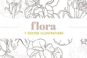 FLORA | 7 Vector Illustrations