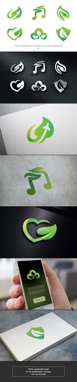 6 Green Leaf Logos
