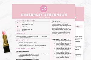 Crisp Pink Resume, Cover Letter Pkg.
