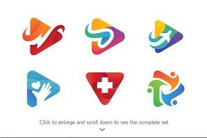 6 Media Play Logos