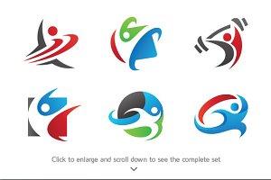 6 Wellness Logos