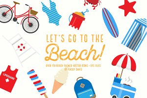 Let's Go To The Beach! Icon Set