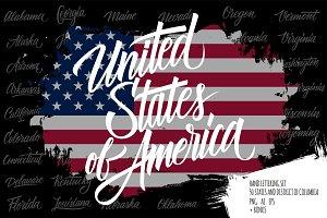 United States lettering set.