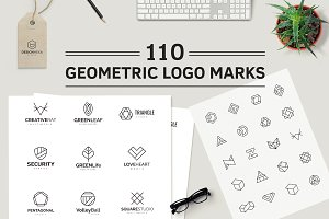 110 Geometric Logo Pack