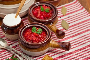 Cabbage Beetroot Soup
