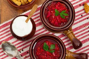Cabbage and Red Beet Soup