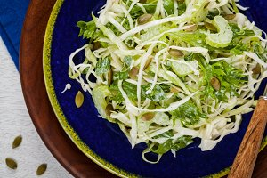 Cabbage Salad with Pumpkin Seeds