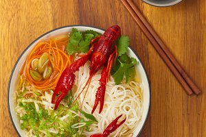 Crawfish Noodle Soup