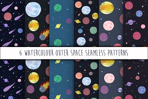 Out of this world seamless patterns